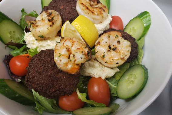 Falafel Bowl With Shrimp