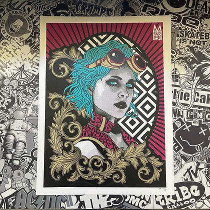 Steam Punk Girl Print