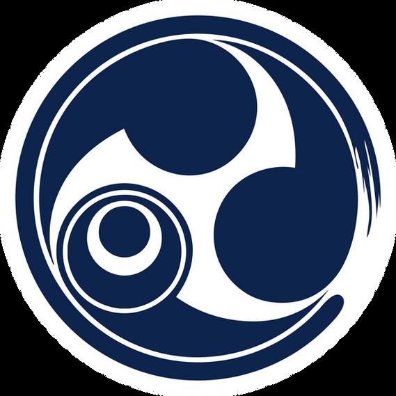 RyukyuSoulLogoBlueWhiteCircleTransparent