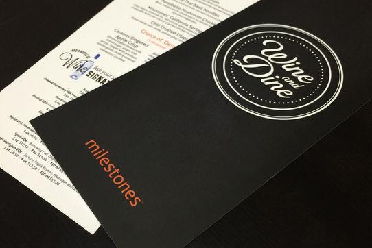 Menu Design for Milestones