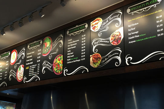 Menu Board Design & Print