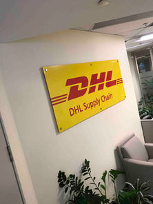 DHL Office Sign