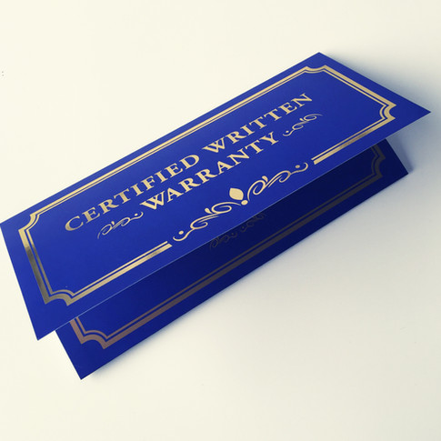 Gold Foil Certification printing