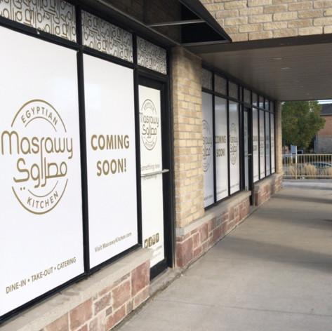 Store front window wraps