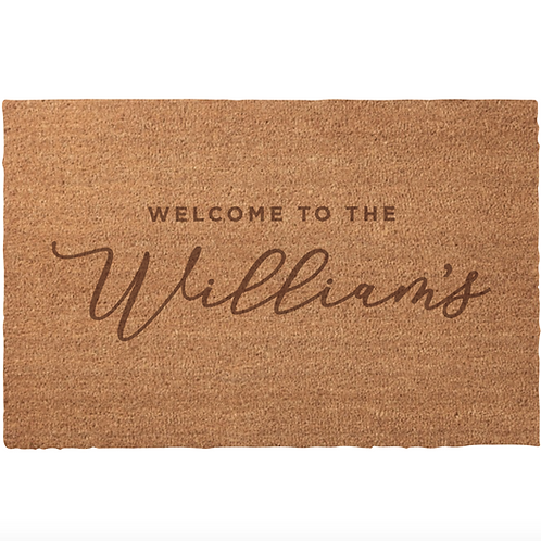 Custom Door Mat (Text only)