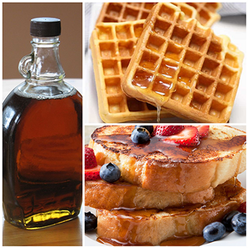 WAFFLES & FRENCH TOAST WITH MAPLE SYRUP (6 pcs each)