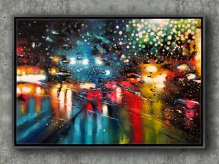 'Blurry Lines' - Original painting