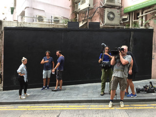 Filming for new TV series in Hong Kong!