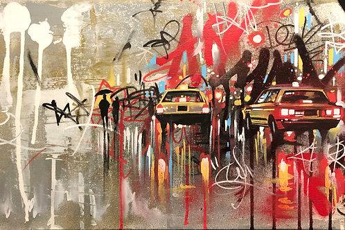 'Tokyo Tags' - Original painting
