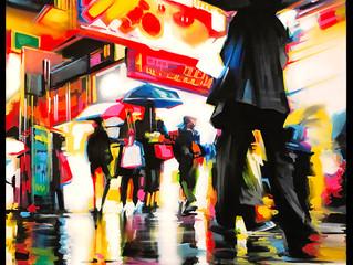 'Tokyo Walk' - Original painting
