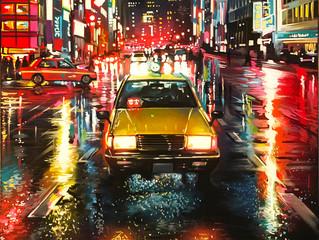 'Tokyo Taxi' - original painting