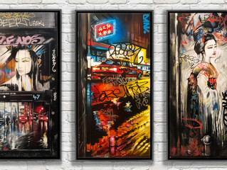 'Defaced Streets' - New canvas works