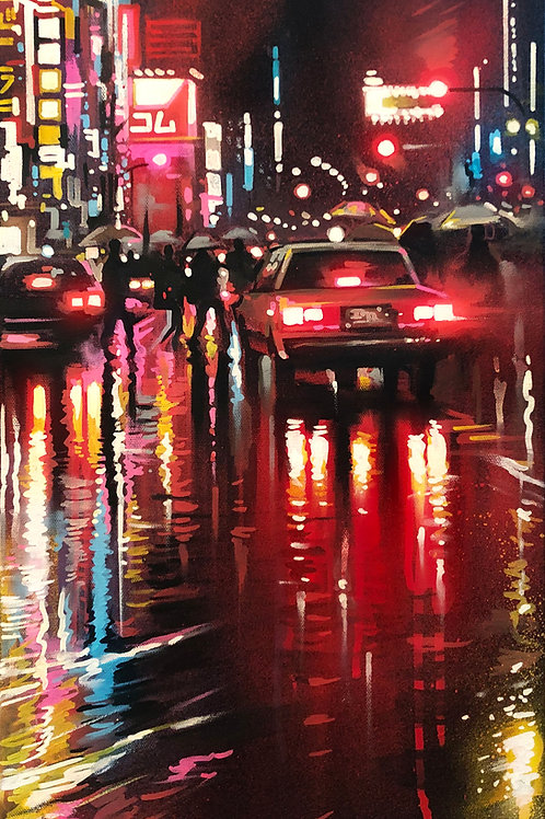 'Tokyo Colours' - Original painting on canvas