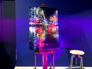 Live painting for charity