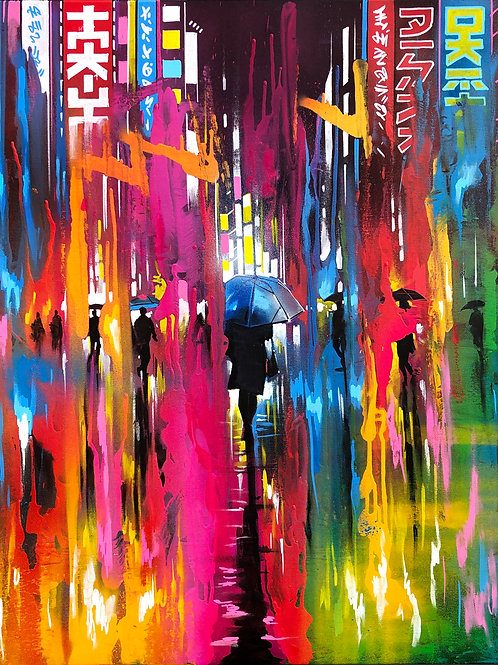 'Liquid Lights' - Original painting