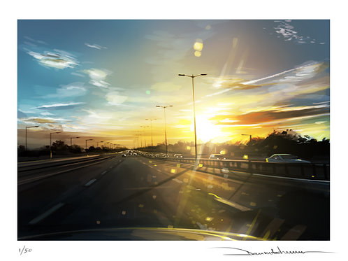 'Long Drive' - Limited edition, signed print