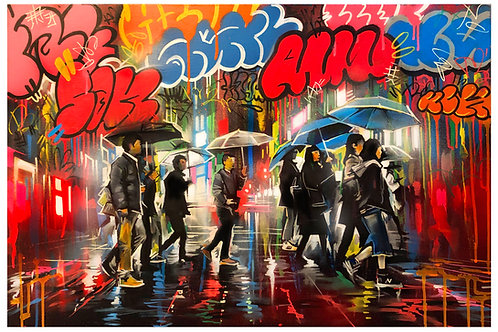 'Tokyo Graffiti' - Original painting