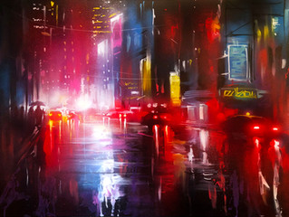 'Tokyo Rains' - Original painting