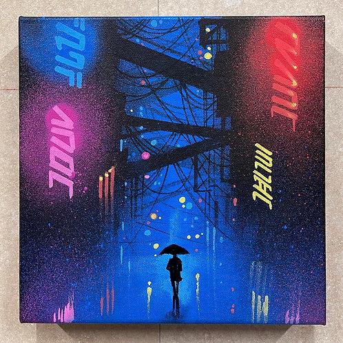 'Neon Cities' - Original painting