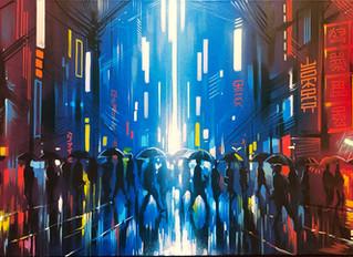 'Neon Streets' - Original painting