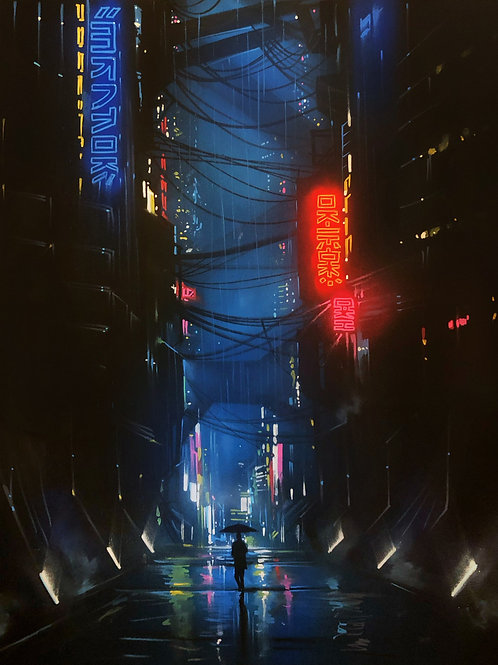 'Dark City' - Original painting