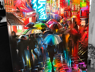 'Streets Of Neon' - canvas work