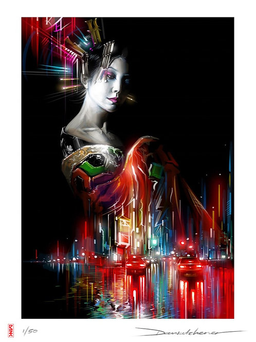 'Lady Of The Lights' - Limited edition print