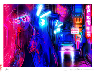 'Midnight Drive' - Limited edition print