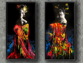 'Colour Falls' - Diptych