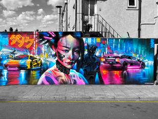 'Tokyo Night Racers' - New mural in Penge!