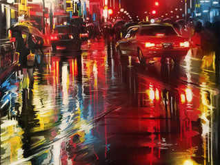 'Tokyo Lights' - new canvas painting