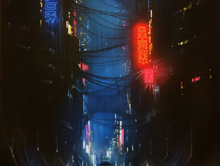 'Dark City' - Original painting on canvas