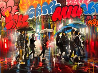 'Tokyo Graffiti' 東京落書き- Original painting