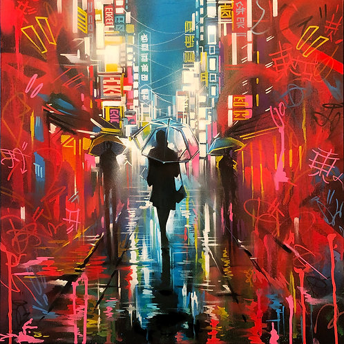 'Tokyo Tags' - Original artwork on canvas