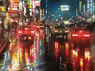 'Tokyo Nights' - Original painting!