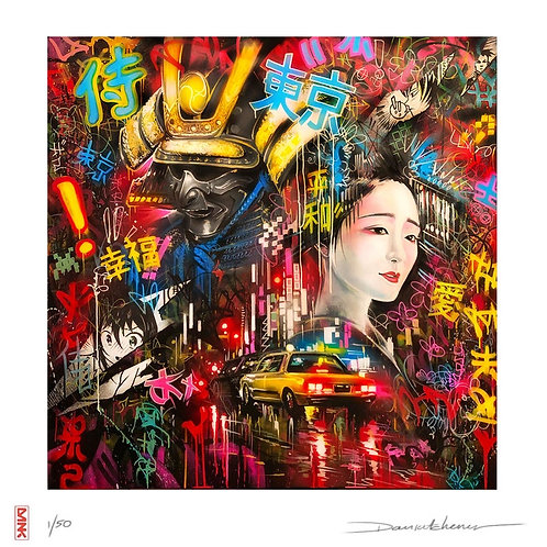 'Tokyo Dreams' - Hand finished print
