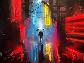 'Neon Nights' - Original painting on canvas