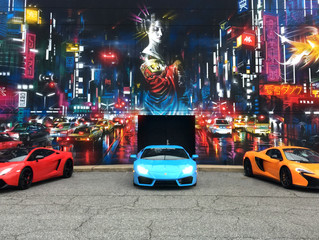 Supercars and street art!
