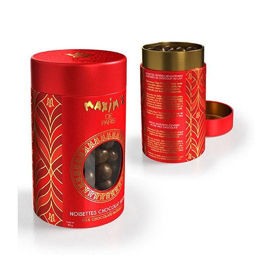Boîte Métal Maxim's Noisettes Chocolat Lait