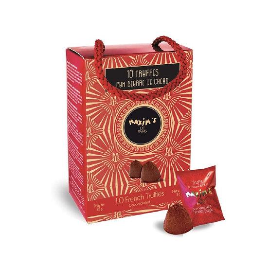 Ballotin Maxim's 10 Truffes Pur Beurre de Cacao