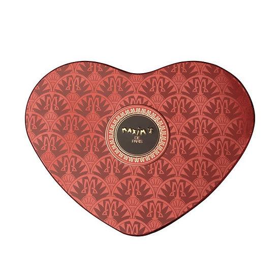 Coffret Coeur Rouge Maxim's Chocolat Lait et Nougat