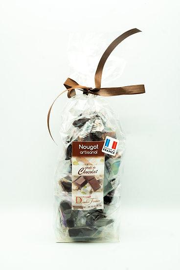 Sachet de Chocolats noirs au Nougat de Montélimar 200g