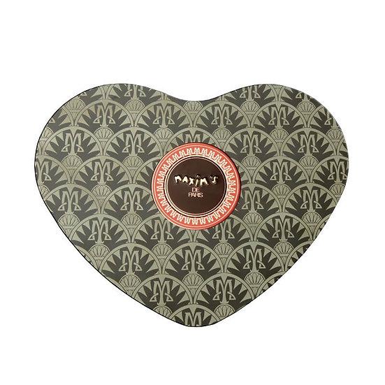 Coffret Coeur Noir Maxim's Chocolat Noir et Nougat