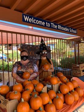 Handing Out Pumpkins