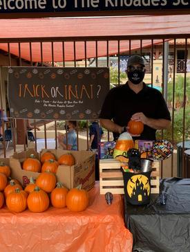 Ryan Hands Out Pumpkins