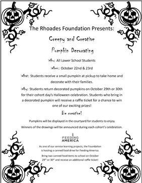 Lower School Halloween Event Flyer