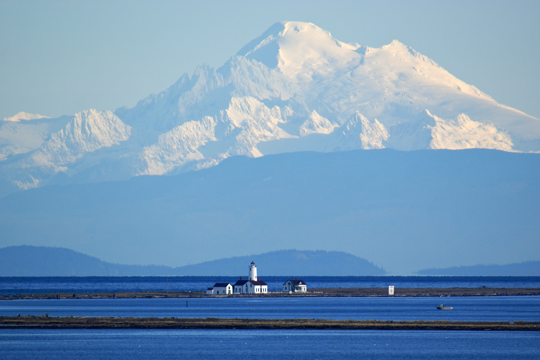 Dungeness Spit with Mt Baker