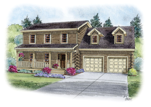 White Birch Two-Story Home