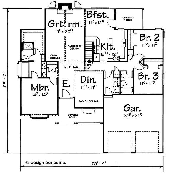ranch floor plan