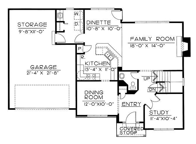colonial floor plan